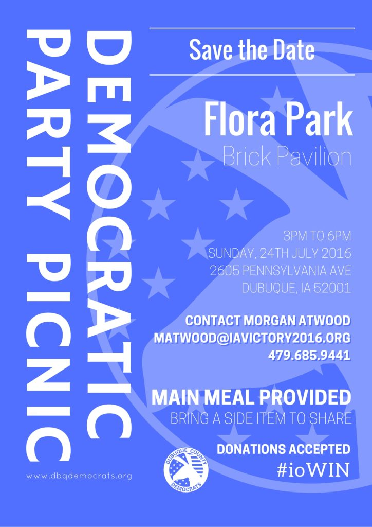 Democratic Picnic Flyer