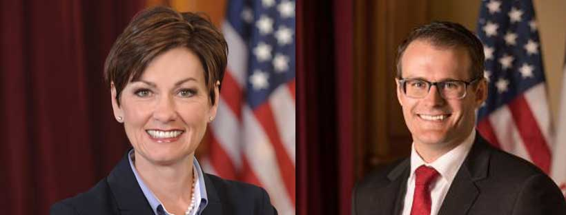 Governor Reynolds and Acting Lieutenant Governor Gregg