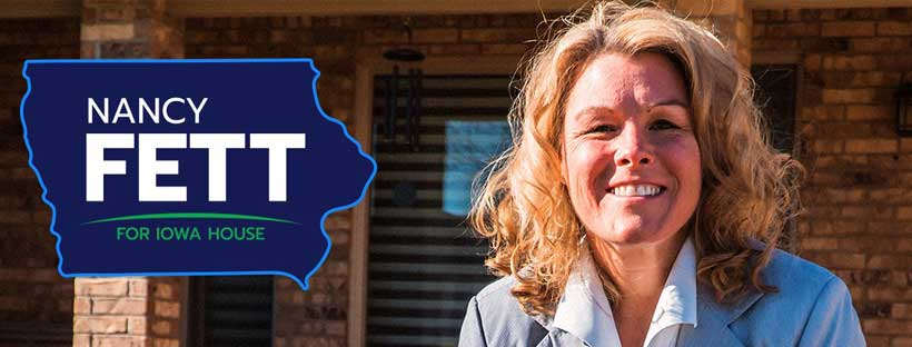 Nancy Fett for Iowa banner
