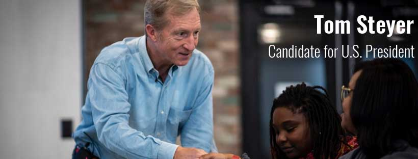 Tom Steyer shaking hands