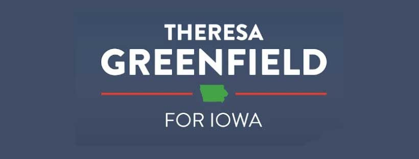 Theresa Greenfield banner